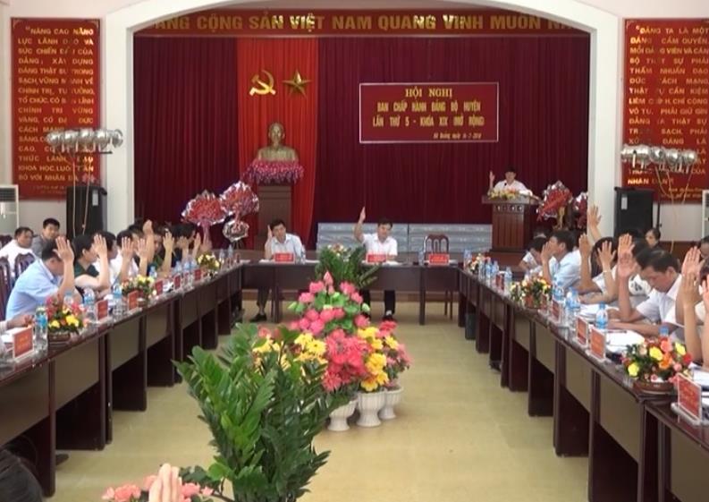 Hà Quảng: Hội nghị Ban Chấp hành Đảng bộ lần thứ 5, khóa XIX (mở rộng)