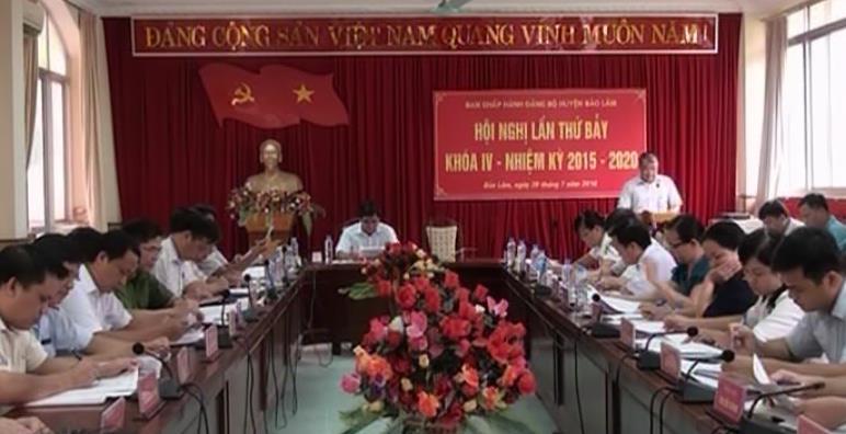Hội nghị BCH Đảng bộ huyện Bảo Lâm lần thứ 7, khóa IV, nhiệm kỳ 2015 - 2020