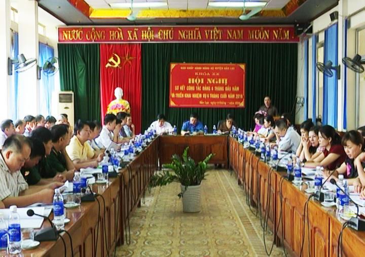 Huyện Bảo Lạc tổ chức Hội nghị sơ kết 6 tháng đầu năm 2016