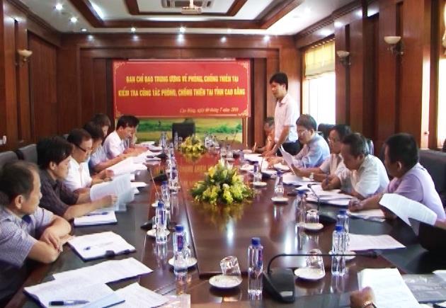 Thứ trưởng Bộ Khoa học và Công nghệ Trần Văn Tùng kiểm tra công tác phòng chống thiên tai tại Cao Bằng