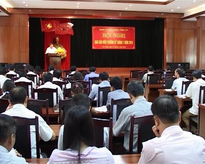 Ban Tuyên giáo Tỉnh ủy: Hội nghị báo cáo viên thường kỳ tháng 7