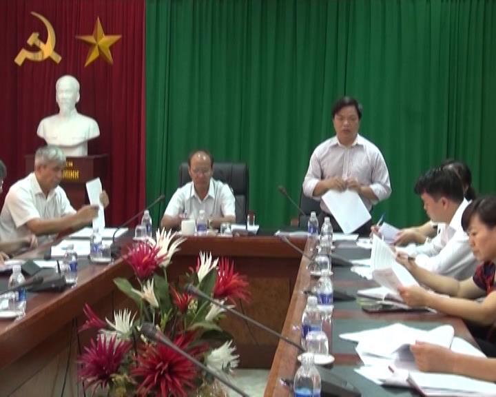 Đoàn công tác của Tỉnh ủy đến giám sát tình hình xây dựng nông thôn mới tại huyện Hòa An