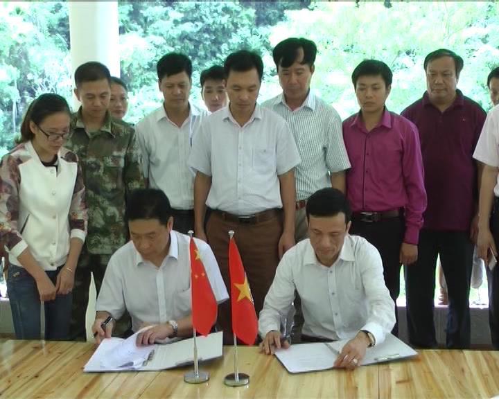 Bảo Lạc: Làm việc với huyện Nà Po (Trung Quốc)