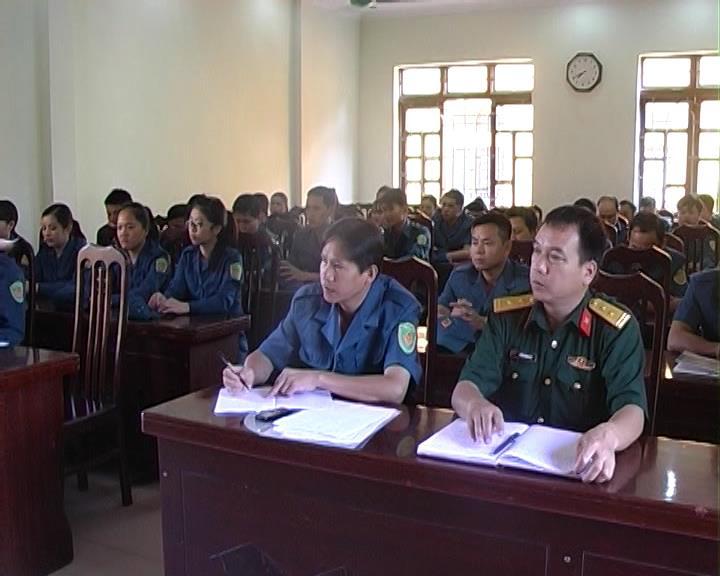 Nguyên Bình: 30 chiến sĩ tham gia huấn luyện Tự vệ năm 2016