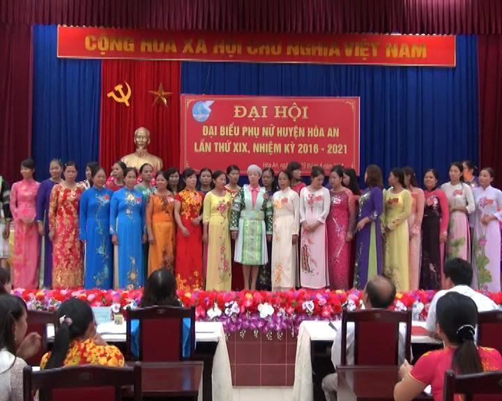 Đại hội đại biểu phụ nữ huyện Hòa An khóa XIX, nhiệm kỳ 2016-2021
