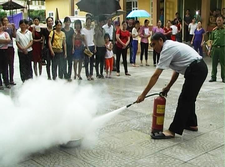 Thạch An: Tập huấn công tác phòng cháy chữa cháy cho giáo viên