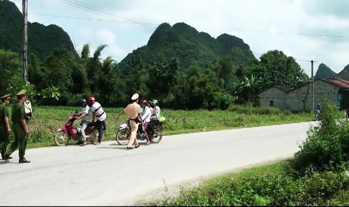 Trùng Khánh: Công an huyện Trùng Khánh ra quân cao điểm đảm bảo trật tự xã hội ATGT trong dịp lễ 2/9