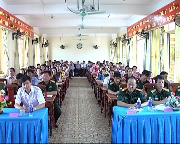 Trường Quân sự tỉnh: Khai giảng lớp bồi dưỡng kiến thức quốc phòng - an ninh đối tượng 3 khóa 52.