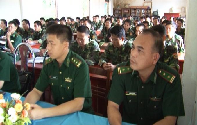 BĐBP tỉnh: Khai mạc huấn luyện dự bị động viên năm 2016