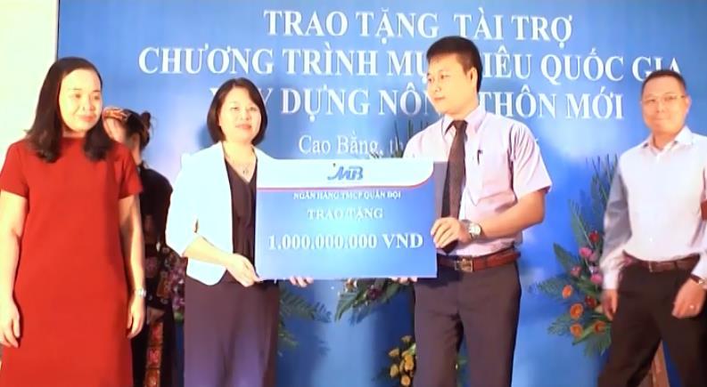 Ngân hàng Thương mại cổ phần Quân đội: Hỗ trợ Thành phố 1 tỷ đồng xây dựng nông thôn mới