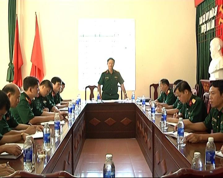 """Bộ CHQS tỉnh kiểm tra công tác """"Xây dựng và quản lý doanh trại chính quy sáng, xanh , sạch, đẹp"""" huyện Bảo Lâm"""