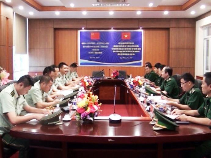 Biên phòng 2 tỉnh Hà Giang, Cao Bằng hội đàm với Công an Biên phòng thành phố Bách Sắc (Trung Quốc)