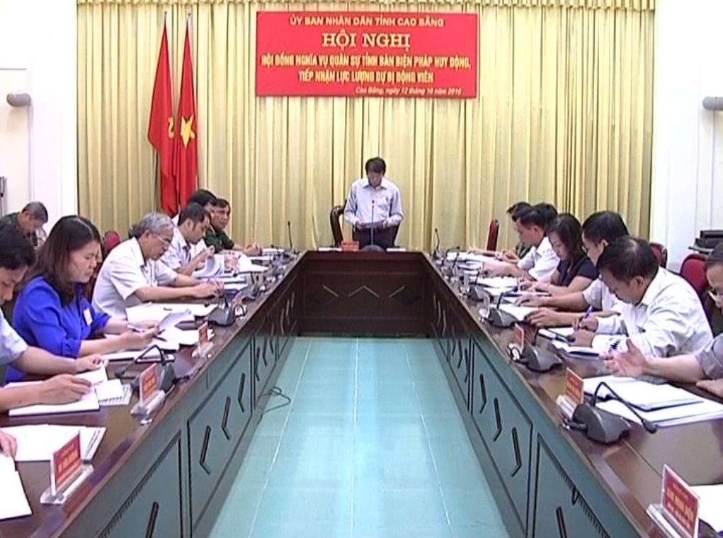 Hội đồng nghĩa vụ quân sự tỉnh triển khai nhiệm vụ động viên diễn tập khu vực phòng thủ tỉnh năm 2016