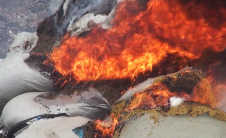 Phục Hòa: Tiêu hủy gần 5 tấn dược liệu nhập lậu