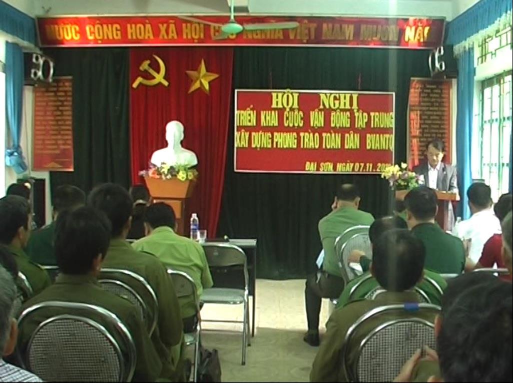 Phục Hòa: Phát động phong toàn dân bảo vệ an ninh Tổ quốc tại xã Đại Sơn
