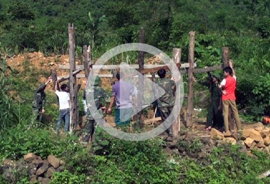 Bộ đội Biên phòng Cao Bằng chung sức xây dựng nông thôn mới