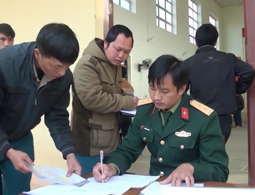 Nguyên Bình: 179 thanh niên được khám sơ tuyển nghĩa vụ quân sự