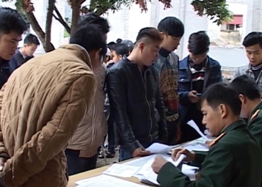 Quảng Uyên: Khám tuyển nghĩa vụ quân sự năm 2017