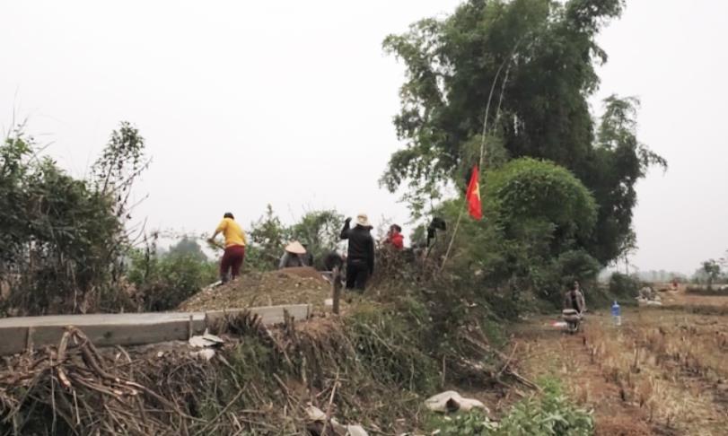 Thành phố: Xã Vĩnh Quang ra quân làm đường giao thông nông thôn