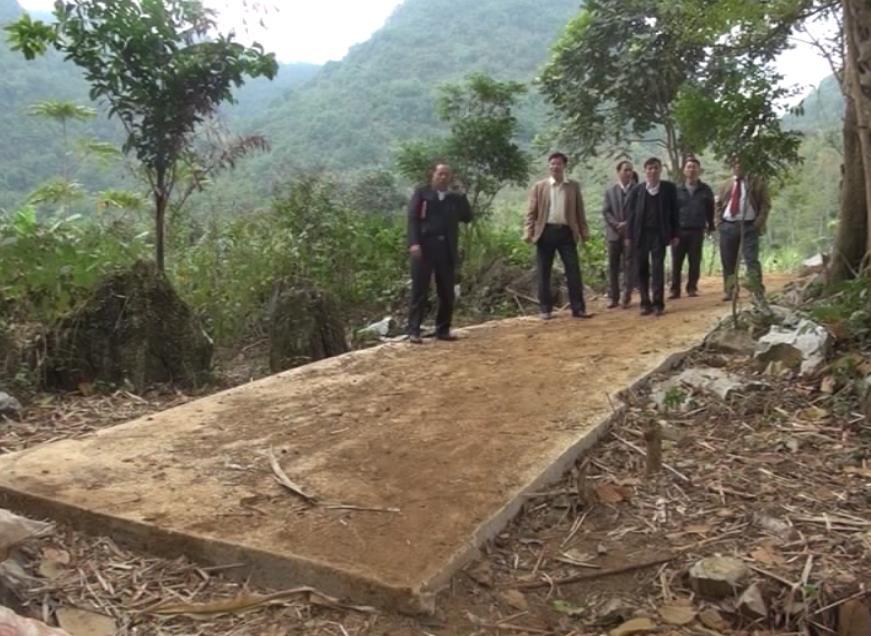 Thẩm định tiêu chí nông thôn mới tại xã Phúc Sen (Quảng Uyên)