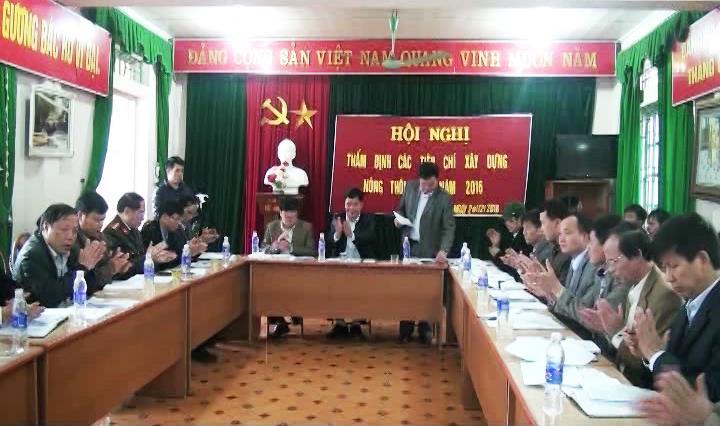 Thẩm định các tiêu chí nông thôn mới trên địa bàn xã Phong Châu, huyện Trùng Khánh