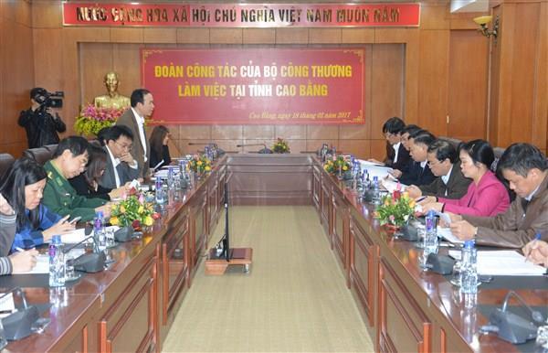 Đoàn công tác Bộ Công Thương làm việc tại Cao Bằng