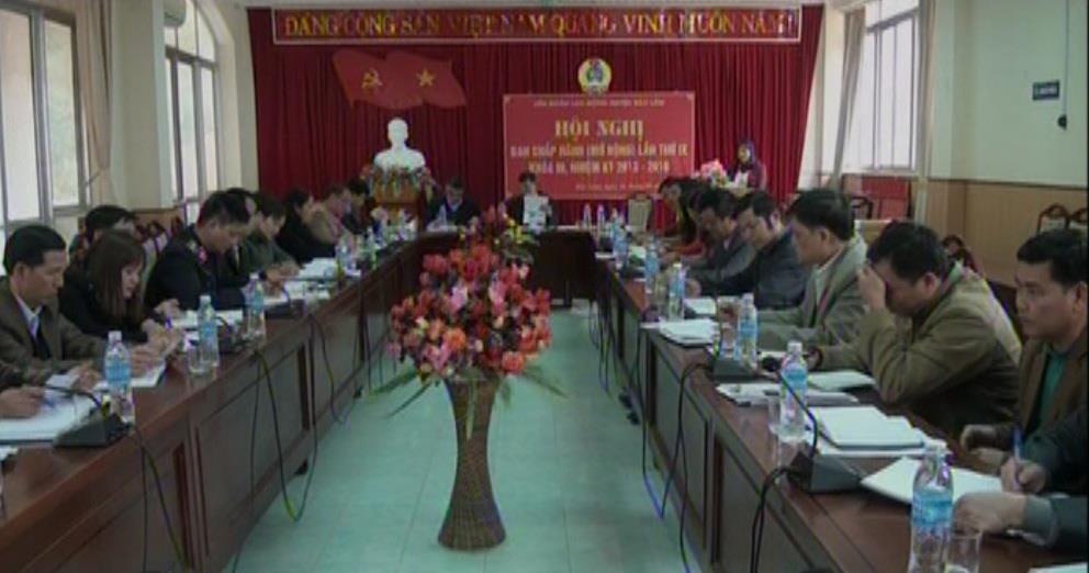 LĐLĐ huyện Bảo Lâm triển khai nhiệm vụ năm 2017