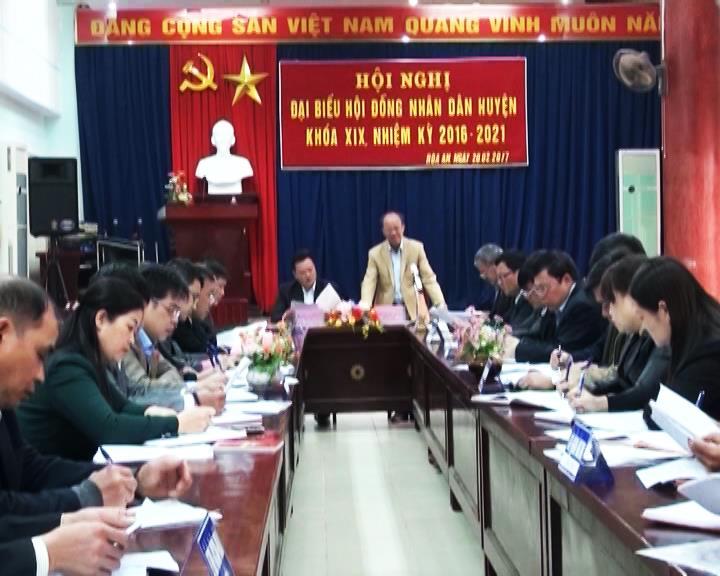 Hòa An: Hội nghị đại biểu HĐND huyện khóa XIX, nhiệm kỳ 2016-2021