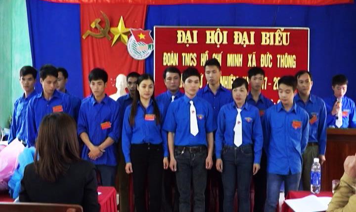 Thạch An: Đại hội đại biểu Đoàn thanh niên xã Đức Thông khóa XX nhiệm kỳ 2017 – 2022