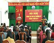 Đảng ủy Khối CCQ tỉnh: Hội nghị thông tin thời sự thường kỳ tháng 4/2017