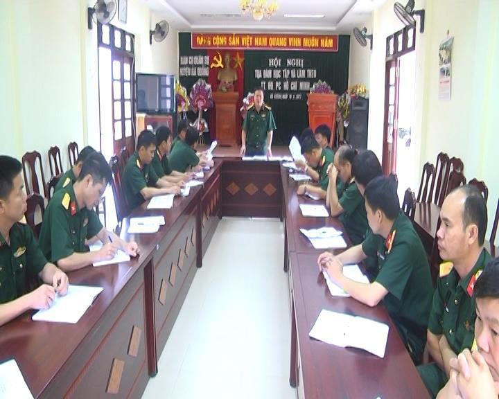 """Ban Chỉ huy Quân sự huyện Hà Quảng: Tọa đàm """"Đẩy mạnh học tập và làm theo tư tưởng, đạo đức, phong cách Hồ Chí Minh"""