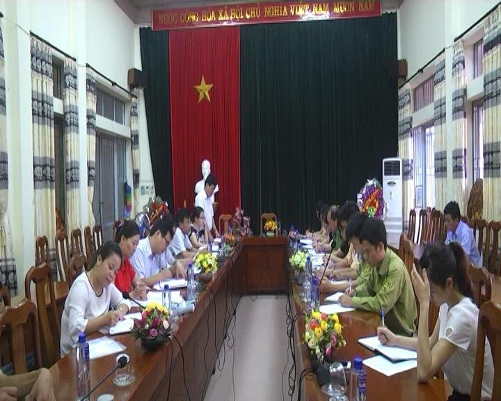 Đoàn công tác liên ngành tỉnh kiểm tra việc thực hiện qui định về xử phạt tang vật, phương tiện vi phạm hành chính tại huyện Hà Quảng