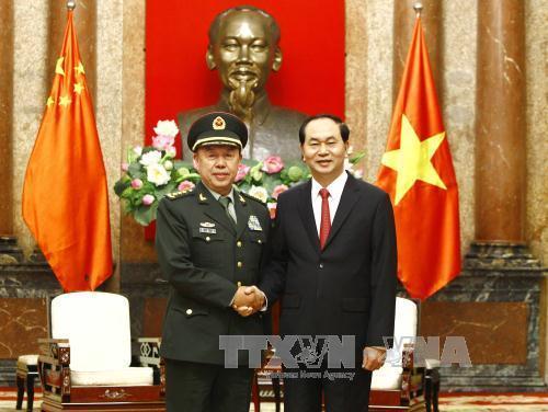 Chủ tịch nước tiếp đoàn đại biểu cấp cao quân đội Trung Quốc