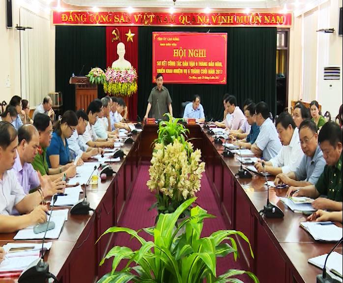 Ban Dân vận Tỉnh ủy: Sơ kết công tác dân vận 6 tháng đầu năm