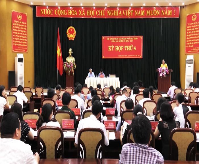 Kỳ họp thứ 4, Hội đồng nhân dân thành phố Cao Bằng khóa XXI, nhiệm kỳ 2016-2021 thành công tốt đẹp