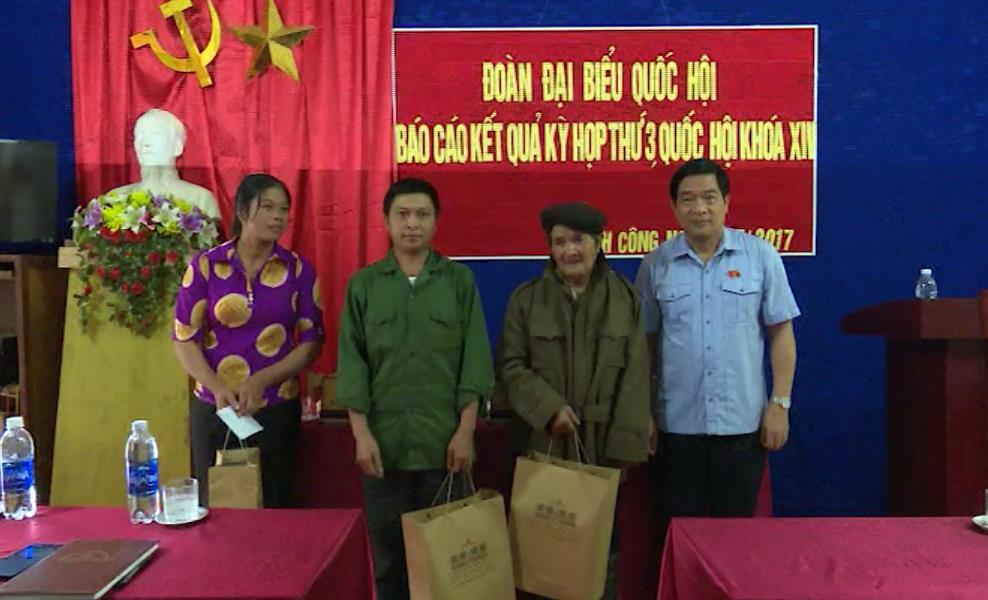 Đoàn đại biểu Quốc hội tỉnh tiếp xúc cử tri huyện Nguyên Bình