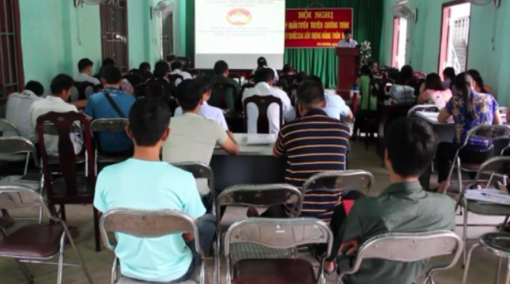 Tập huấn chương trình MTQG xây dựng nông thôn mới tại xã Cao Chương