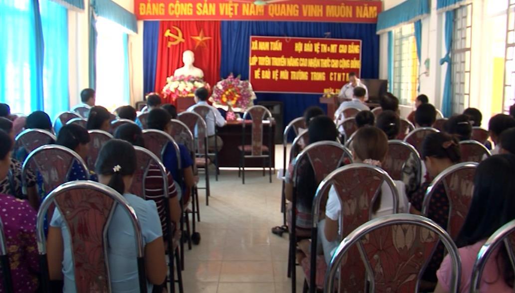 Tuyên truyền về môi trường trong xây dựng nông thôn mới tại xã Nam Tuấn