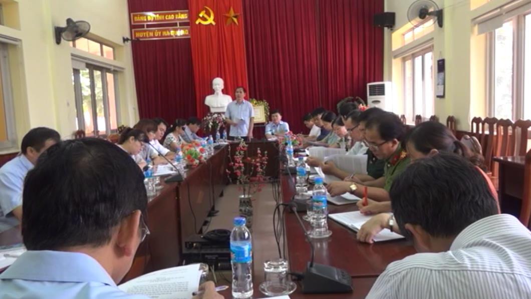 Giám sát công tác lãnh đạo, chỉ đạo thực hiện Chương trình MTQG xây dựng NTM tại Hà Quảng