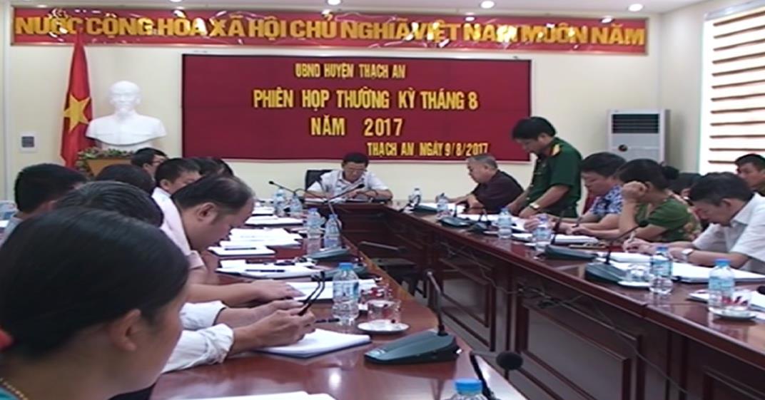 UBND huyện Thạch An họp phiên thường kỳ tháng 8