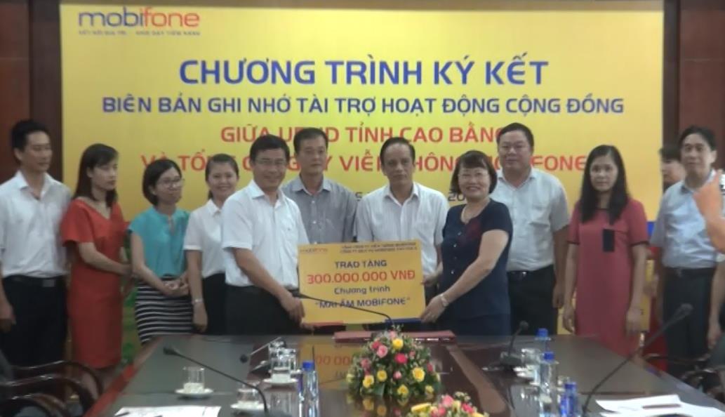 UBND tỉnh - Công ty Dịch vụ Mobifone 5: Ký kết Biên bản ghi nhớ triển khai các hoạt động tài trợ cộng đồng