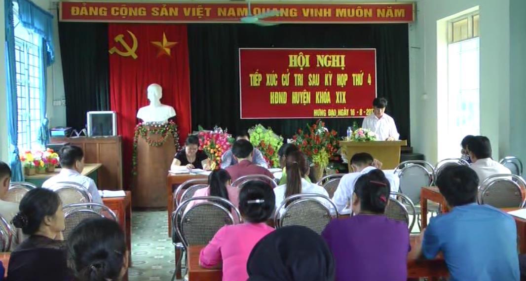 Đại biểu HĐND huyện Bảo Lạc tiếp xức cử tri 2 xã Hưng Đạo, Sơn Lộ