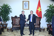 Phó Thủ tướng Trương Hòa Bình tiếp lãnh đạo Ủy ban Trung ương Mặt trận Lào xây dựng đất nước