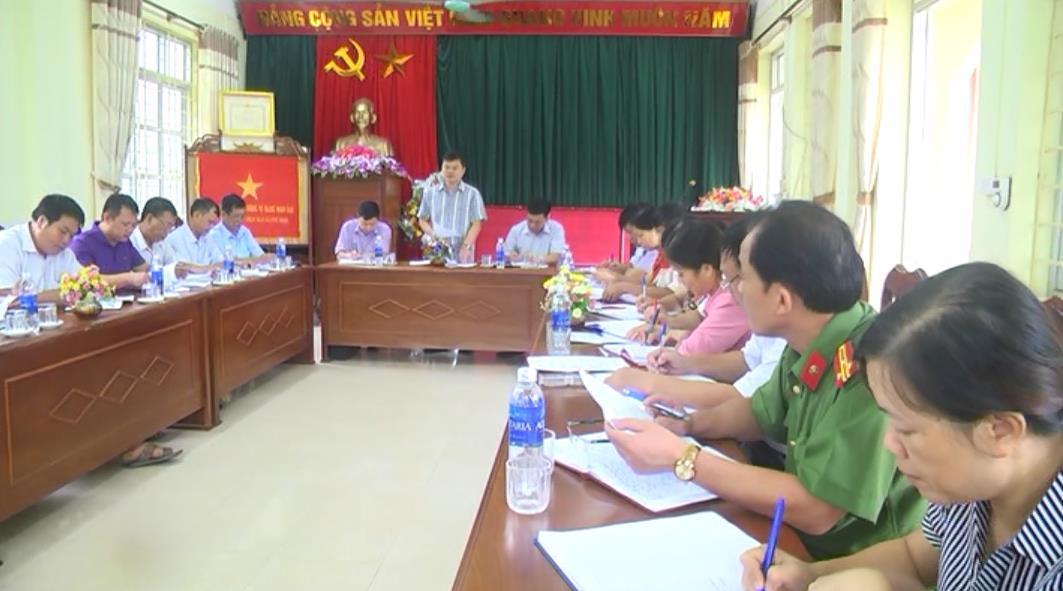 Ban Thường vụ Huyện ủy Hà Quảng làm việc với xã Phù Ngọc