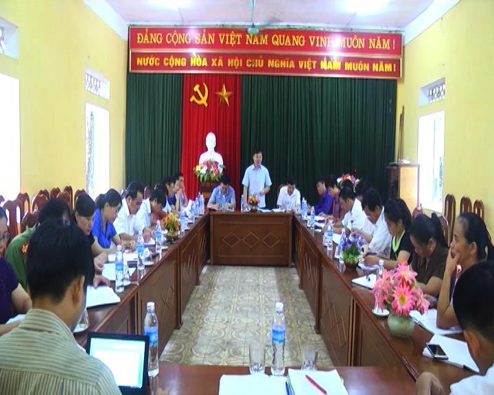 Ban Thường vụ Huyện ủy Hà Quảng làm việc với xã Sóc Hà