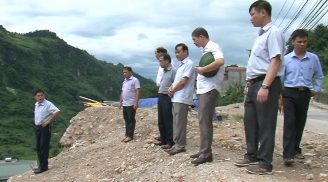 Phó Chủ tịch UBND tỉnh Nguyễn Trung Thảo kiểm tra phòng, chống thiên tai tại huyện Nguyên Bình