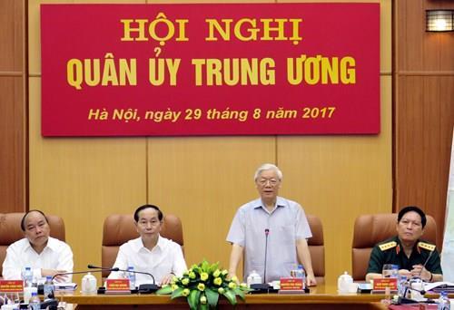 Tổng Bí thư chủ trì Hội nghị Quân ủy Trung ương