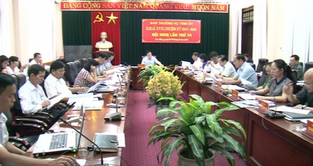 Hội nghị lần thứ 24 Ban Thường vụ Tỉnh ủy khóa XVIII: Cho ý kiến về một số dự thảo đầu tư phát triển cơ sở hạ tầng trên địa bàn tỉnh