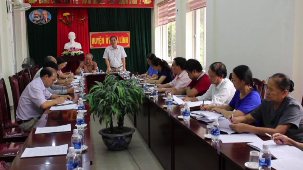 Ban Dân vận Tỉnh ủy  làm việc với Huyện ủy Trà Lĩnh