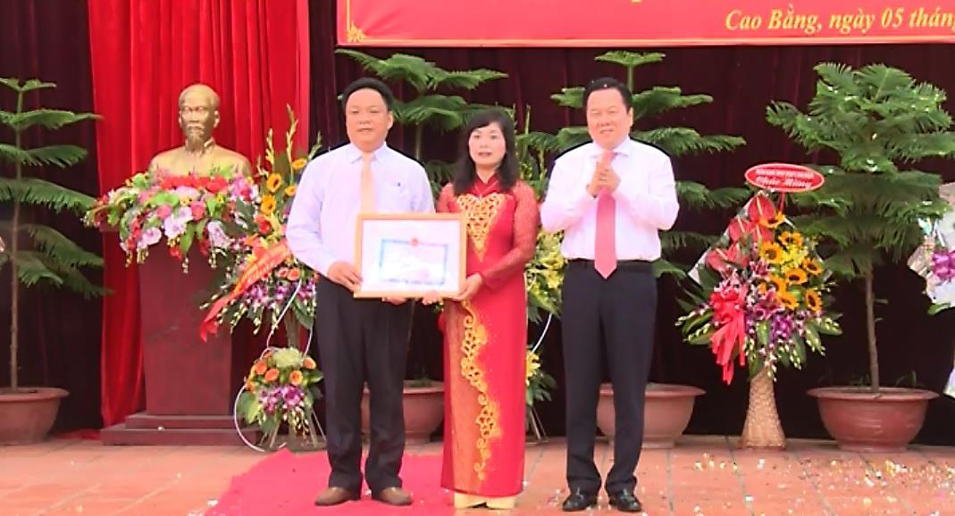 Bí thư Tỉnh ủy Nguyễn Hoàng Anh dự Lễ khai giảng tại Trường THPT Chuyên tỉnh